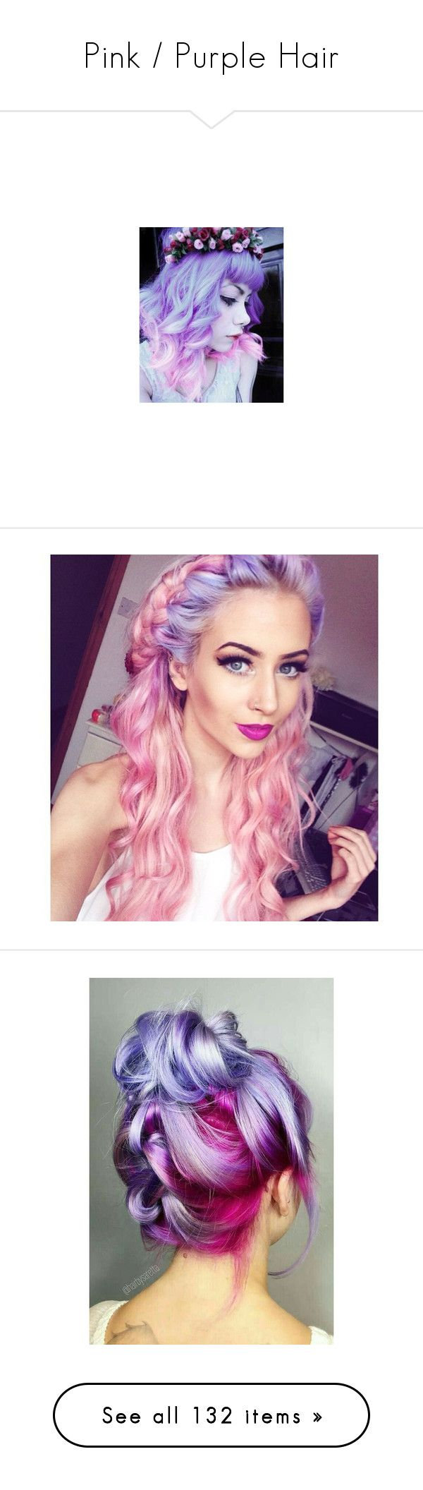 """Pink / Purple Hair"" by mildabas ❤ liked on Polyvore featuring hair, accessories, hair accessories, crown hair accessories, braid crown, jackets, beauty products, carrington durham, brianna and carrington"