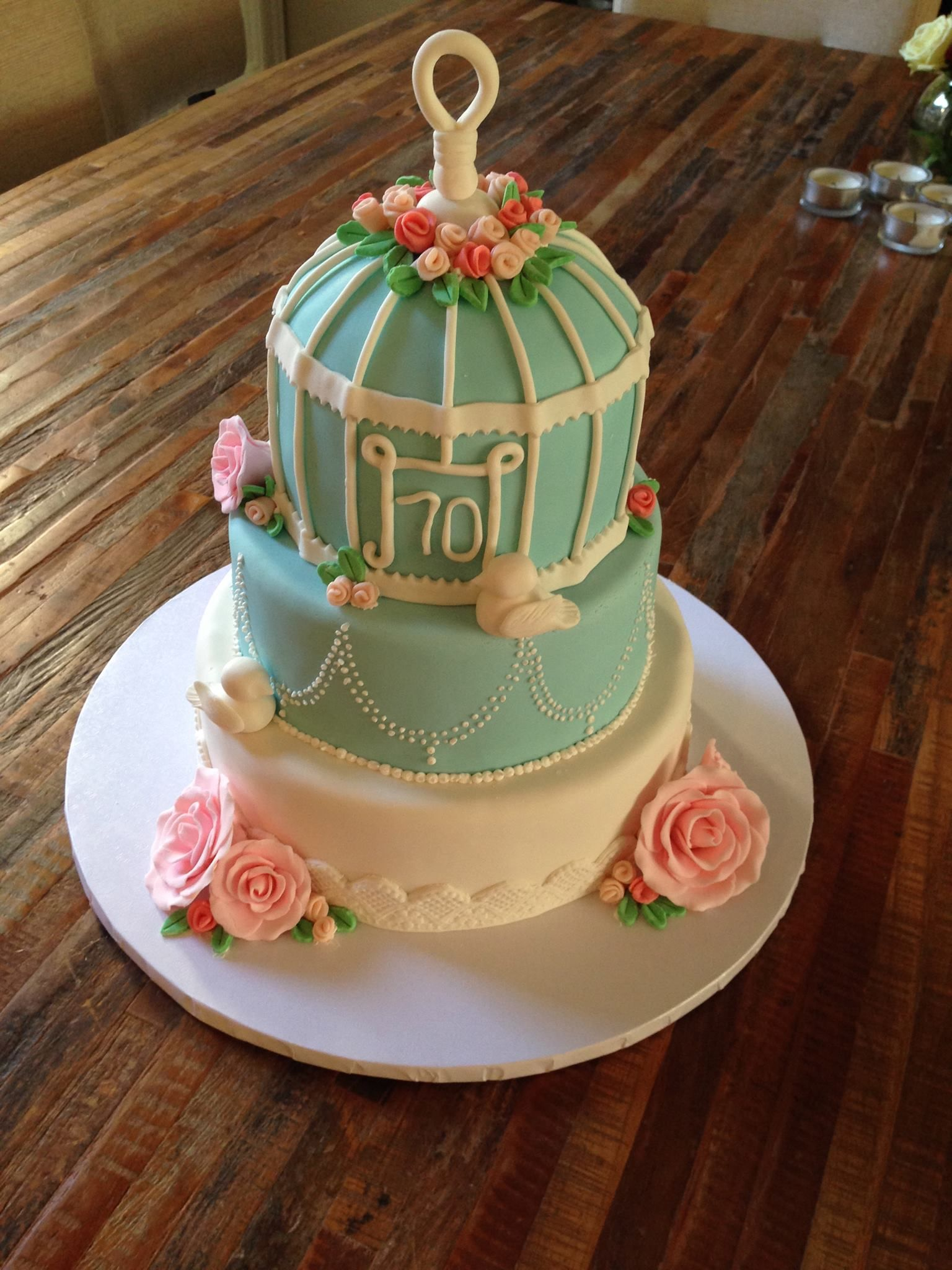 Bird Cage Shabby Chic Birthday Cake My Confectionary Home Cakes