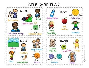 Help children learn about healthy self care, by developing a self care  plan. They can draw pictures or … | Teaching kids, Counseling teacher,  Counseling activities