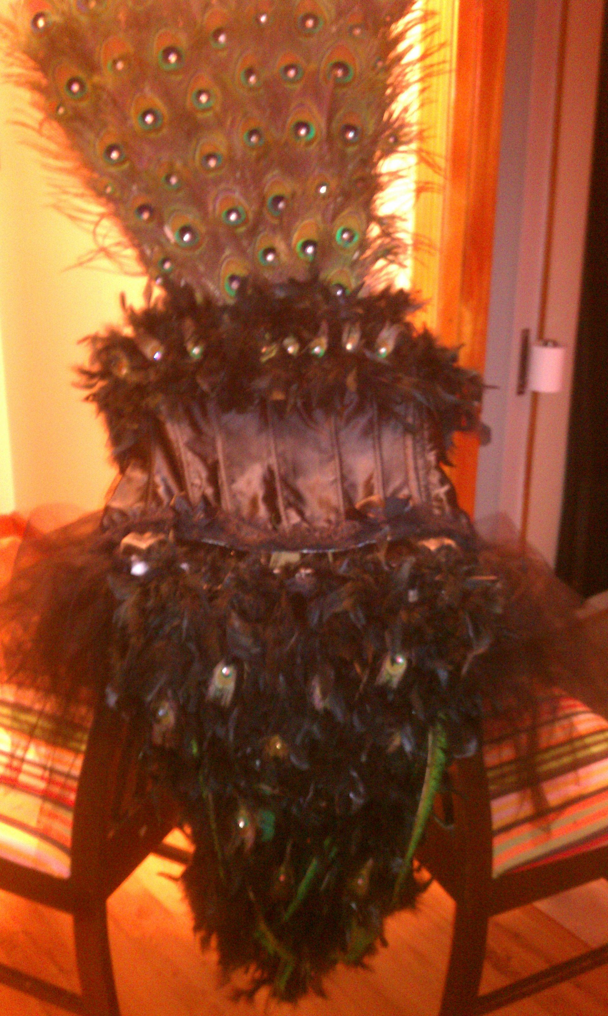 """Peacock Showgirl"" Halloween costume I made for myself."