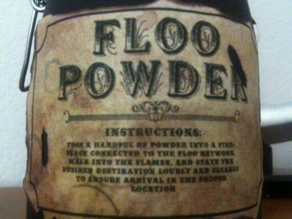Floo Powder Label Harry Potter Potion Labels Harry Potter Shower Harry Potter Potions