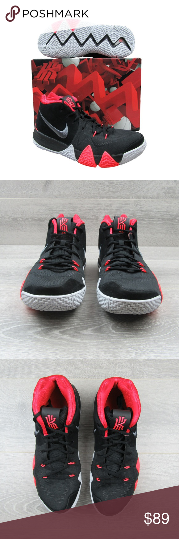 ca484546888f Nike Kyrie 4 Black Crimson Basketball Shoes 11.5 PRICE IS FIRM - NO OFFERS  - Nike
