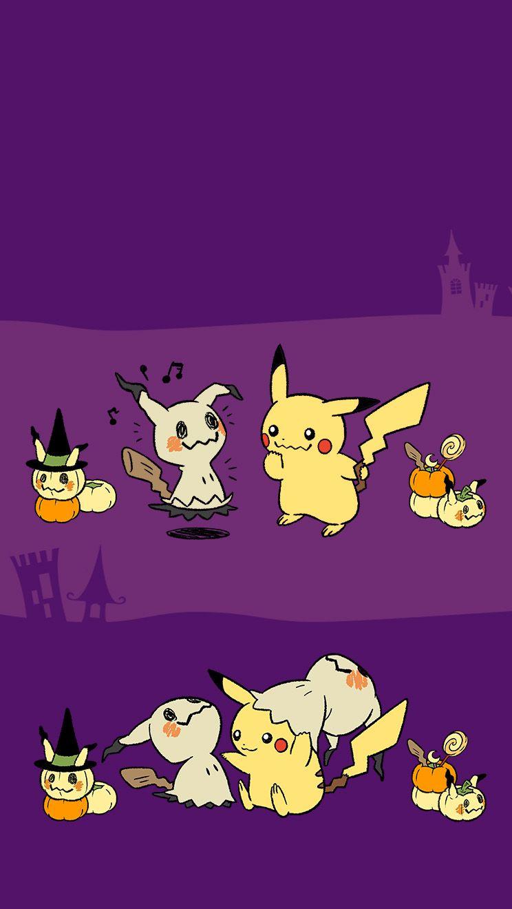 Mimikkyu Pikachu Halloween Mobile Wallpaper Cute Pokemon Wallpaper Ghost Pokemon Pokemon Halloween