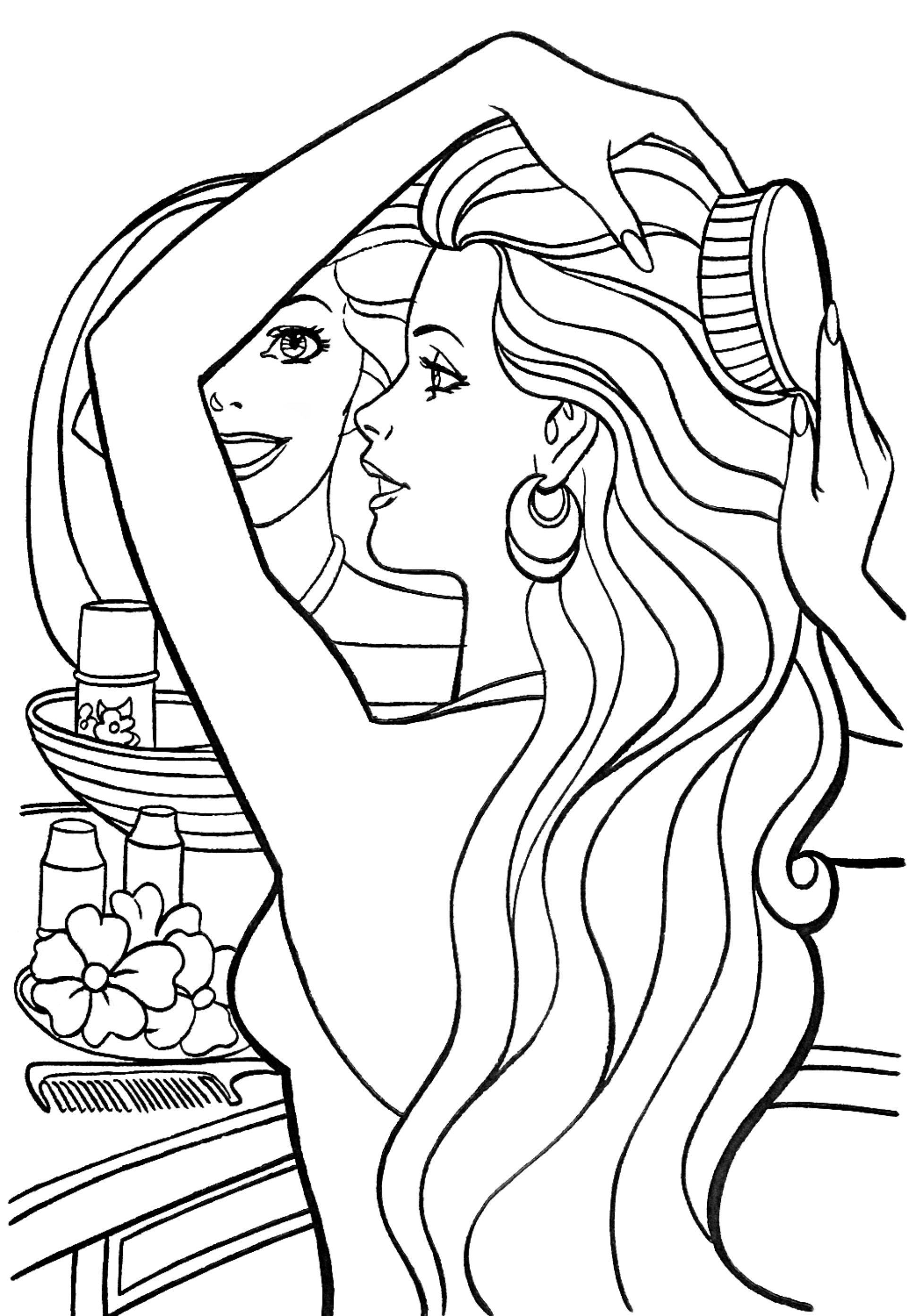 Pin by Tsvetelina on Barbie coloring - part 2 | Barbie ...