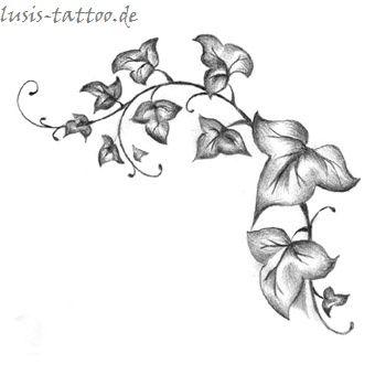 Tattoomotiv Efeu