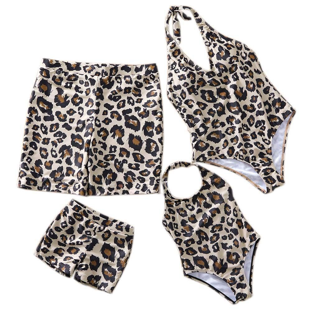 YT Baby Family Swimsuit Leopard Print One Piece Mommy And Me Monokini Backless, #Ad #Swimsuit, #Leopard, #Family, #YT