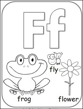 Free Letter F Alphabet Coloring Page Still Thinking About A