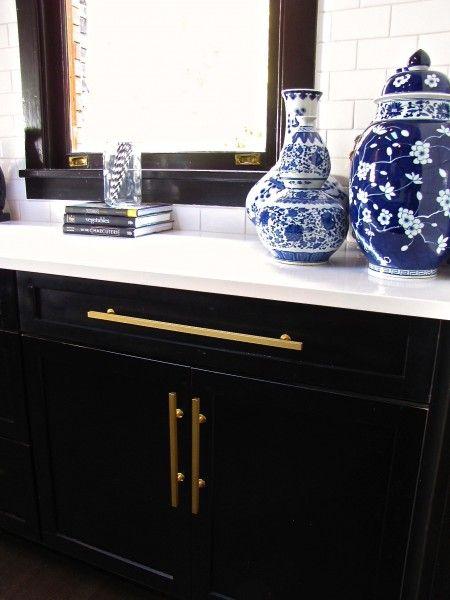 High Drama In This Kitchen Featuring Black Cabinets And Brass Amusing Kitchen Design Blog Design Decoration