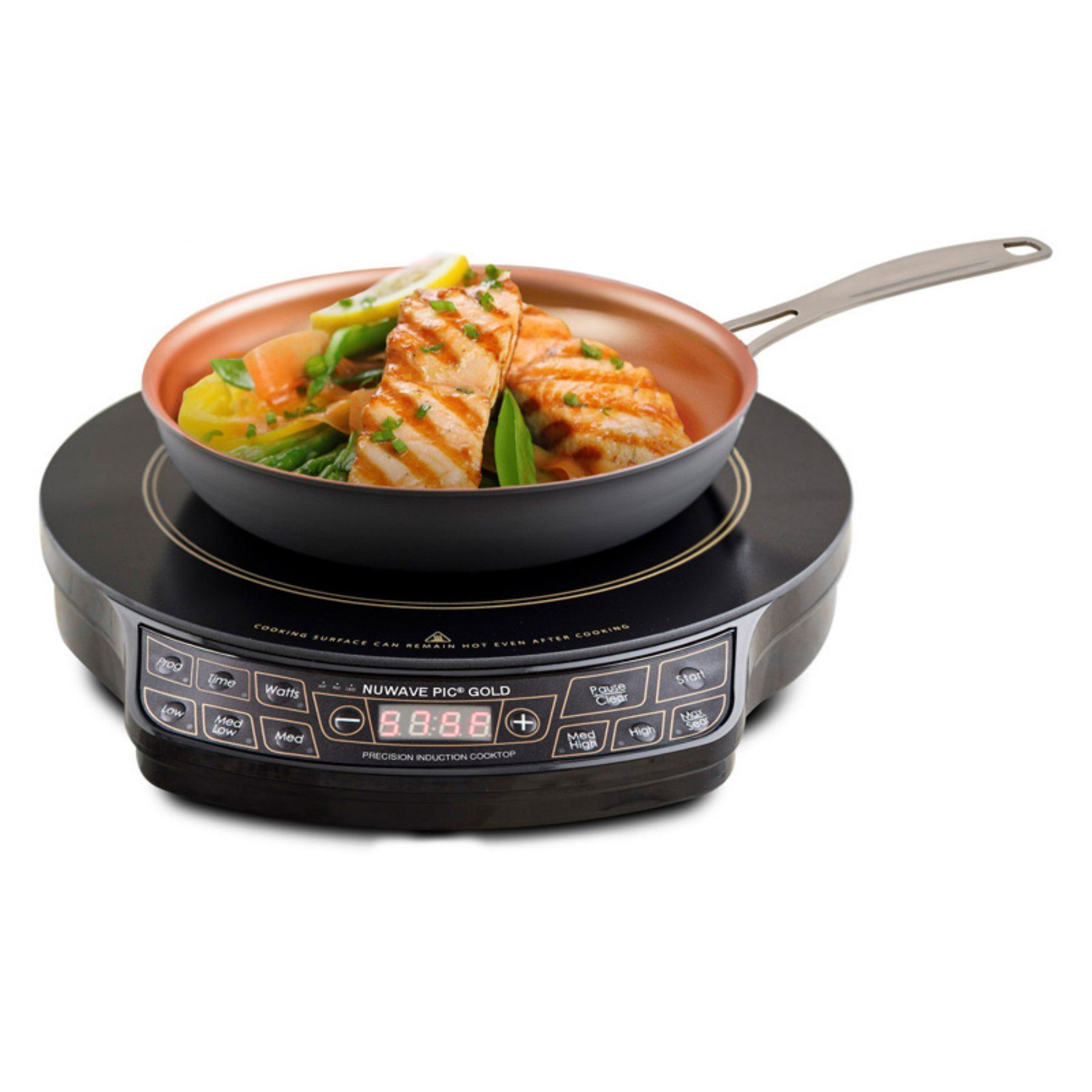 nuwave 30242 pic gold precision induction cooktop with 10 5 in fry