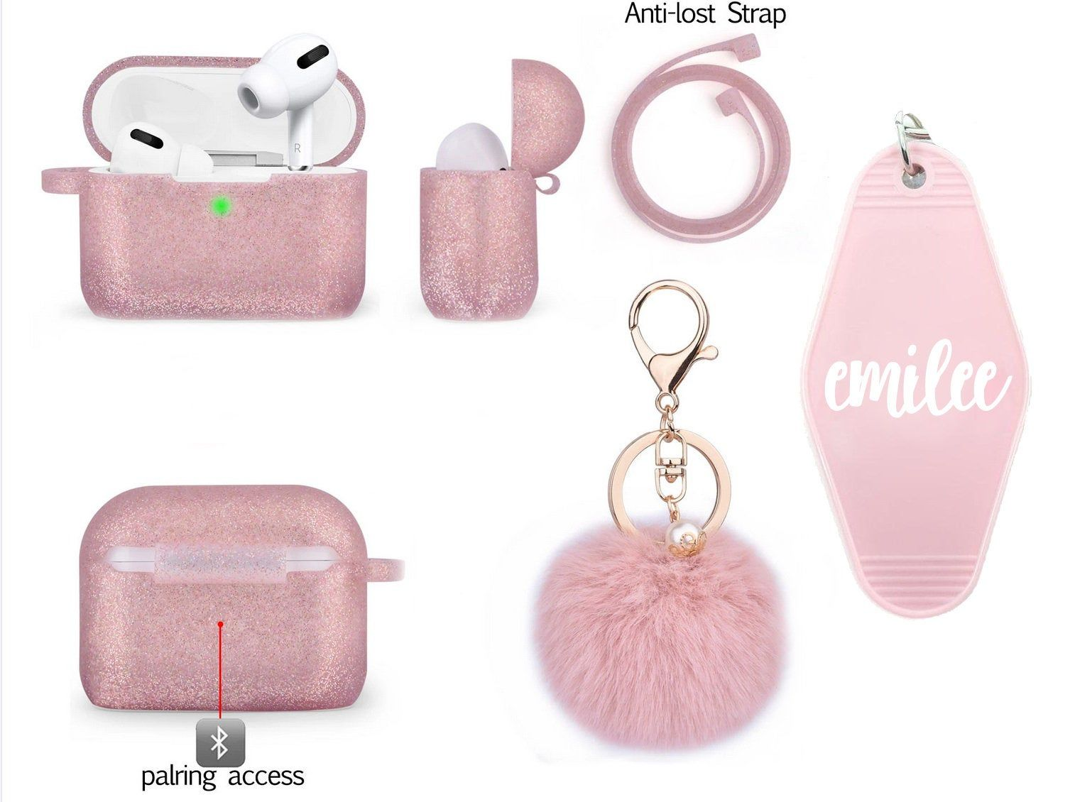 Airpods pro case with keychain for airpod pro cute etsy