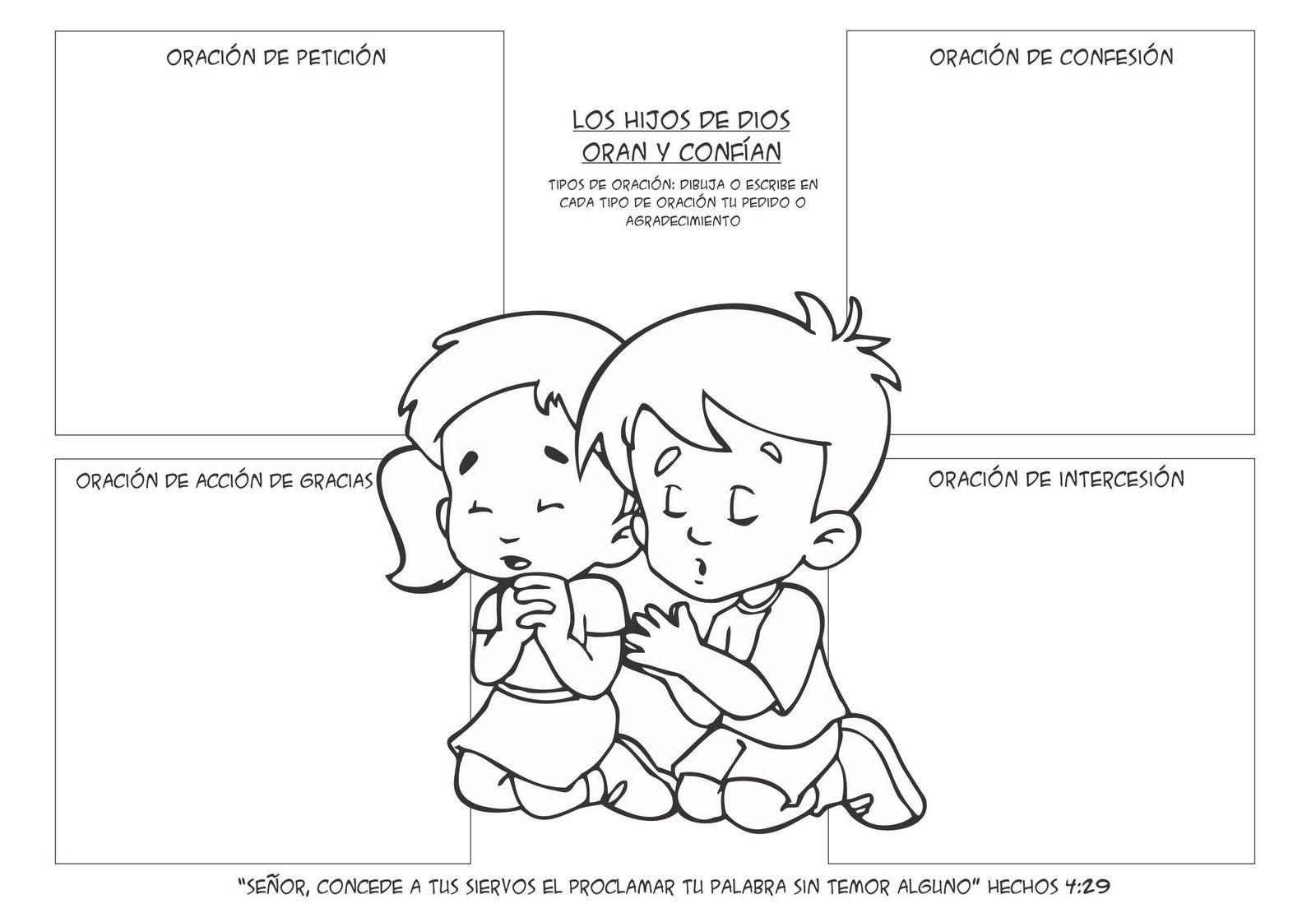 Ministério Infantil Semillita kids: Actividad Oración | fitnnes ...