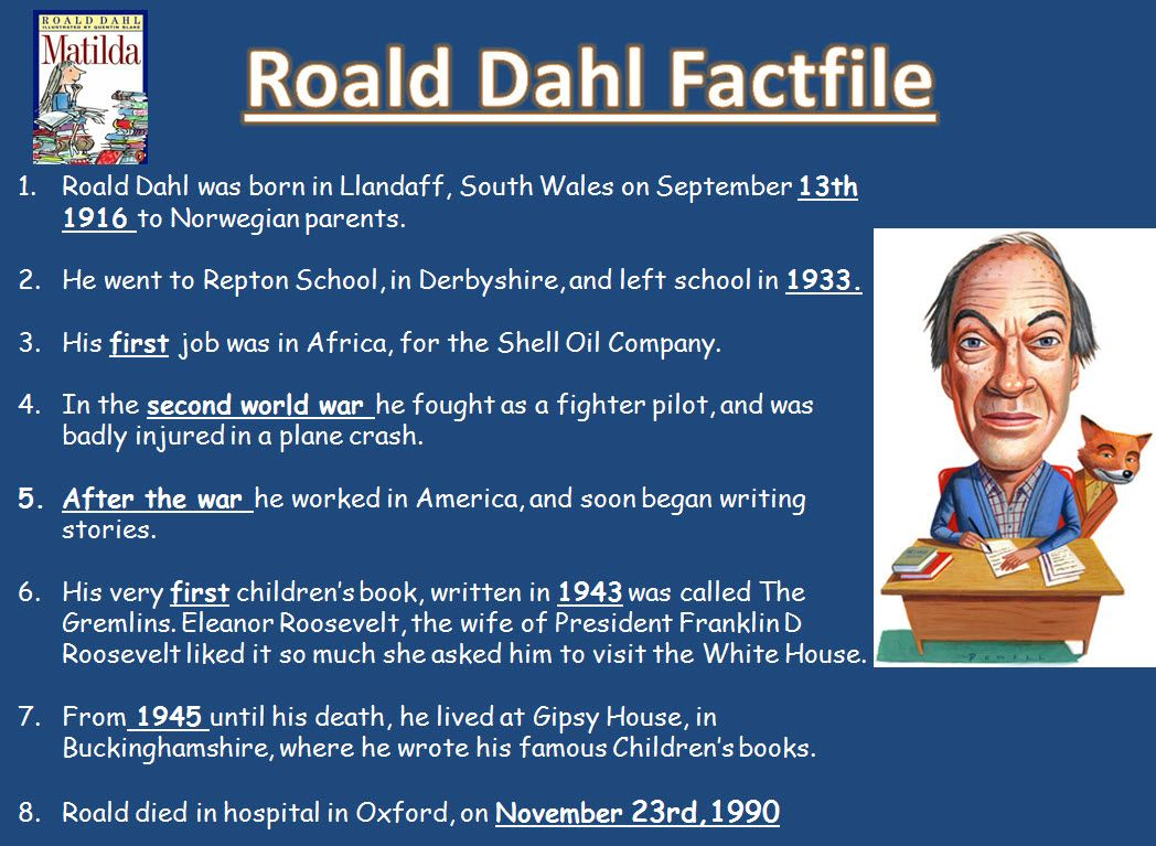 Roald Dahl: children\'s fiction project - A range of resources ...