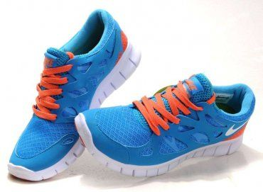 check out 39b3c 8d2c6 Nike Free Run 2 Womens Dark Blue Orange Running Shoes - Click Image to Close
