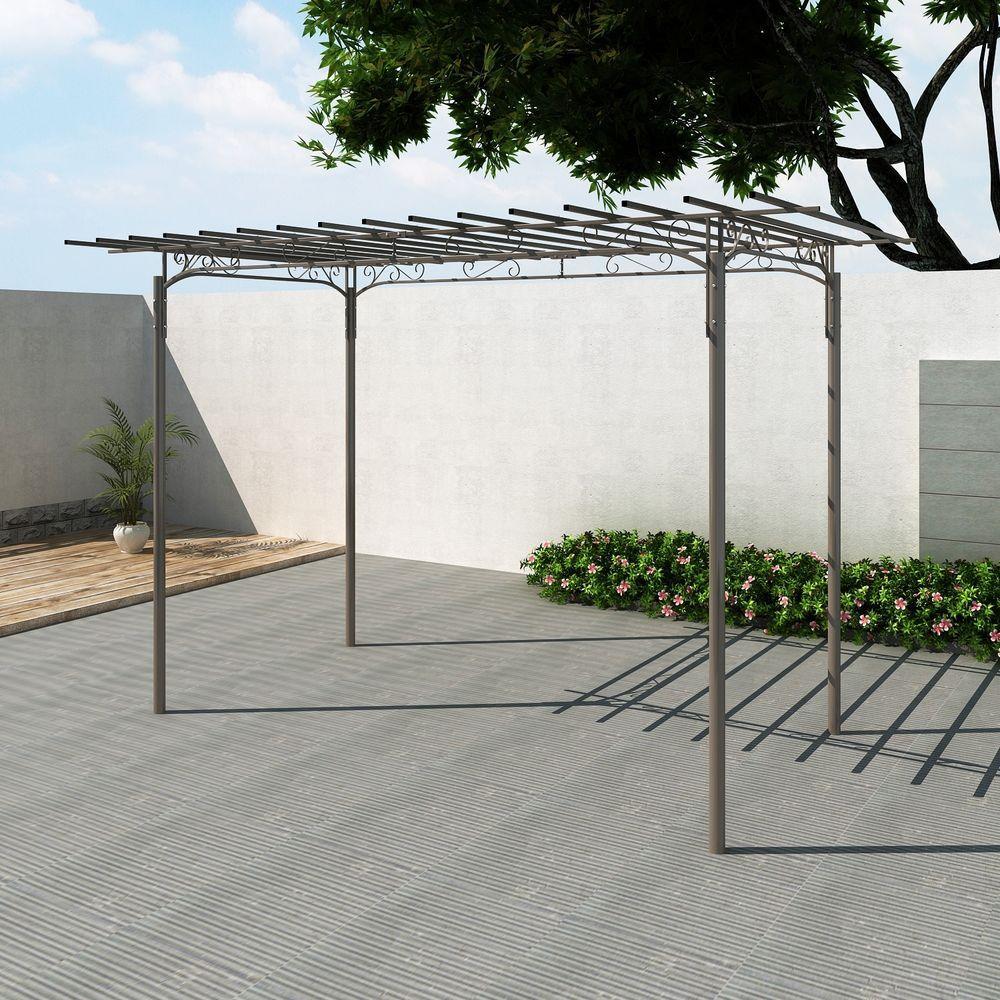 stahl garten pavillon gartenlaube gartenpavillon laube. Black Bedroom Furniture Sets. Home Design Ideas