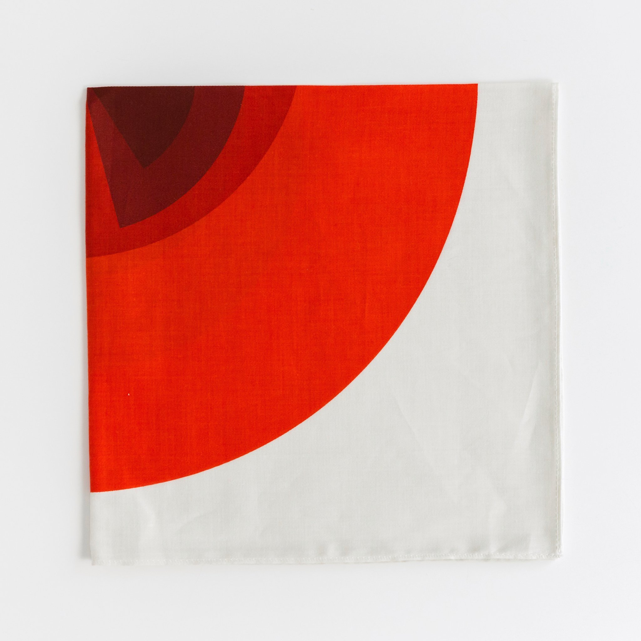 """Arcs"" Handkerchief Silk screen printing, Silk pocket"