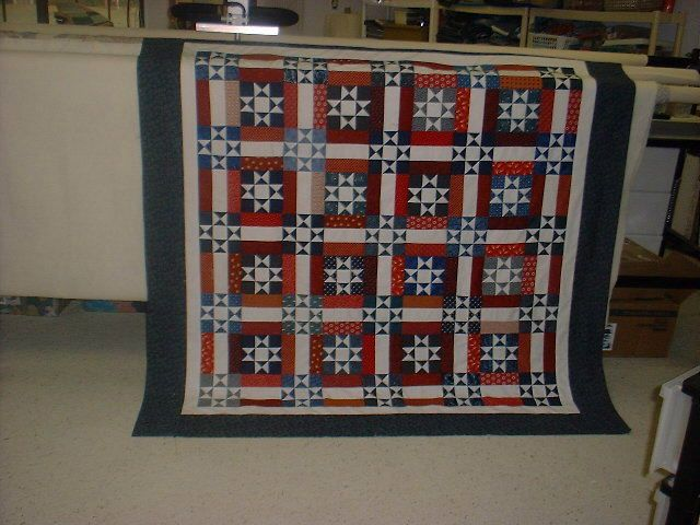 Bonnie Hunter's Ohio Stars and Rails patriotic quilt - free ... : ohio star quilt pattern free - Adamdwight.com