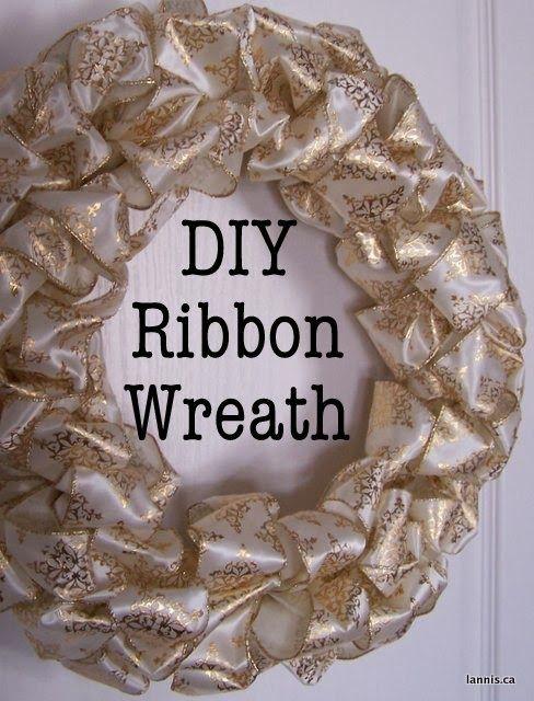 Photo of Chez Lannis: DIY ribbon wreath