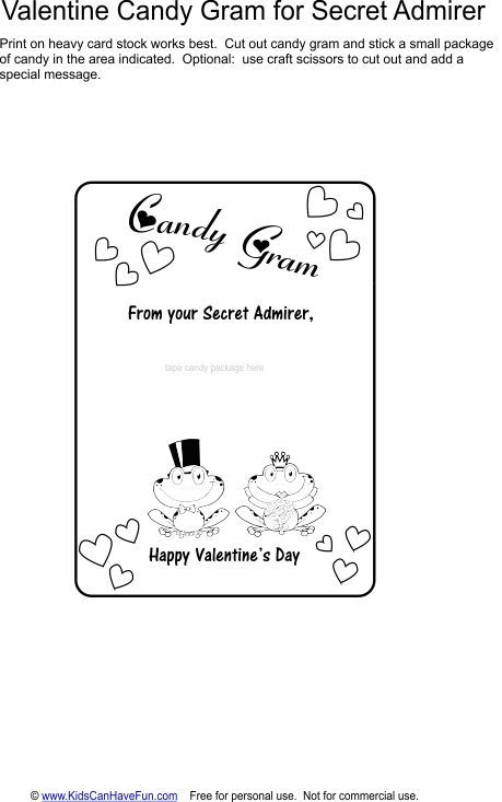 Valentine candy gram template images template design ideas for Free antennas com projects template