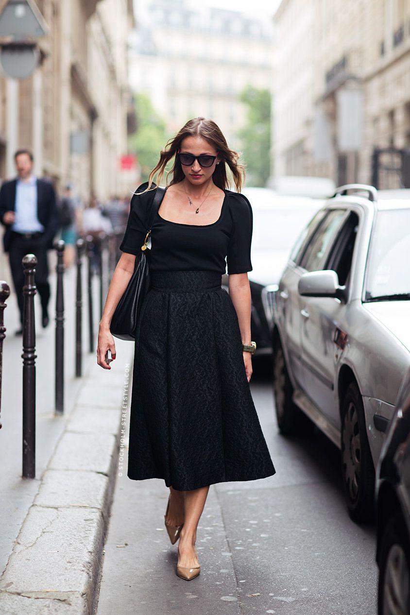 38fa7321836 Gala Stockholm Streetstyle  skirt  black  high waist  highwaist  heels   tan heels Edgy