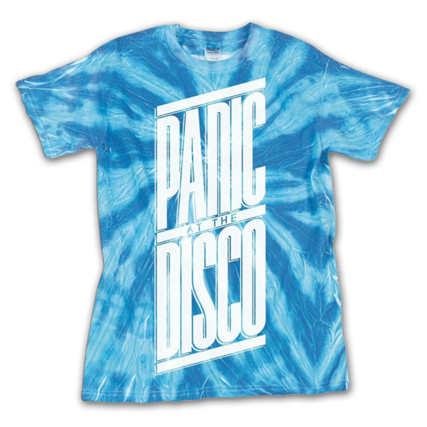 779d38c0 Blue Tie Dye Panic! at the Disco Shirt. This is my favorite out of the ones  I've pinned so far.