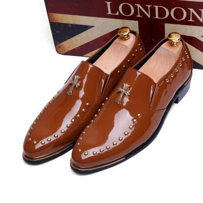 Oxford Shoes Patent Leather Dress Shoes