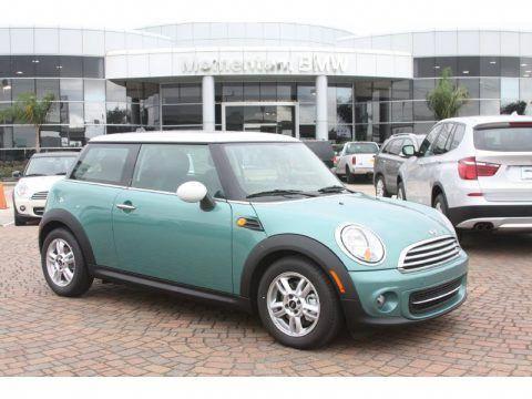 Mint Green Mini Cooper