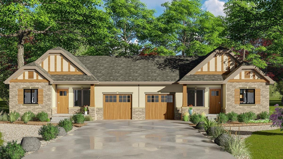 Charming Cottage Style Duplex with Matching 2 Bed Units