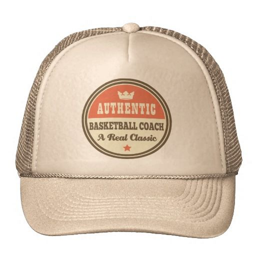 61eeca867a3 Authentic Basketball Coach Vintage Gift Idea Trucker Hats ...