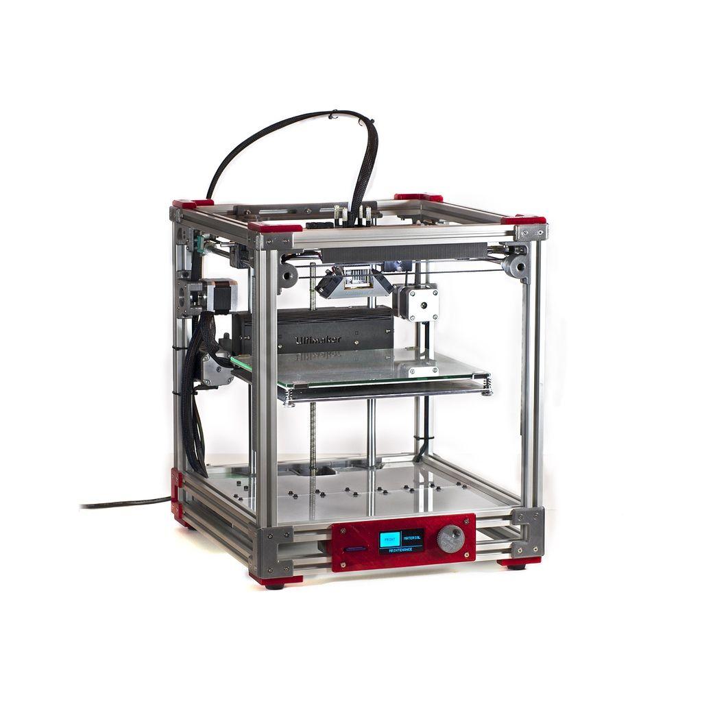 Ultimaker 2 Aluminum Extrusion 3d Printer By Jasonatepaint Mendel Circuit Board Spacer Print Models
