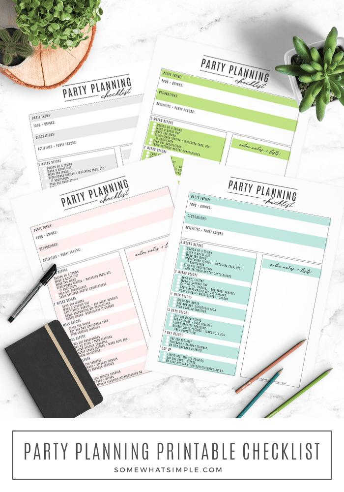 Photo of Partyplanungs-Checkliste – Kostenloser druckbarer Partyplaner – Etwas einfach