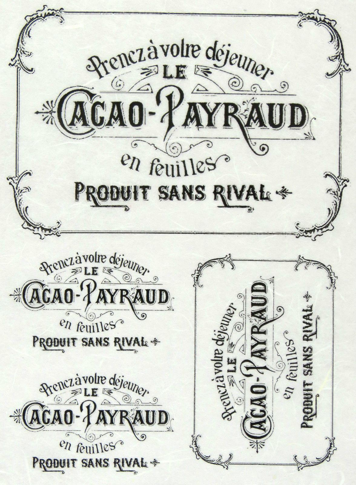 Rice Paper for Decoupage, Scrapbook Sheet, Craft Paper Vintage Labels Black | eBay