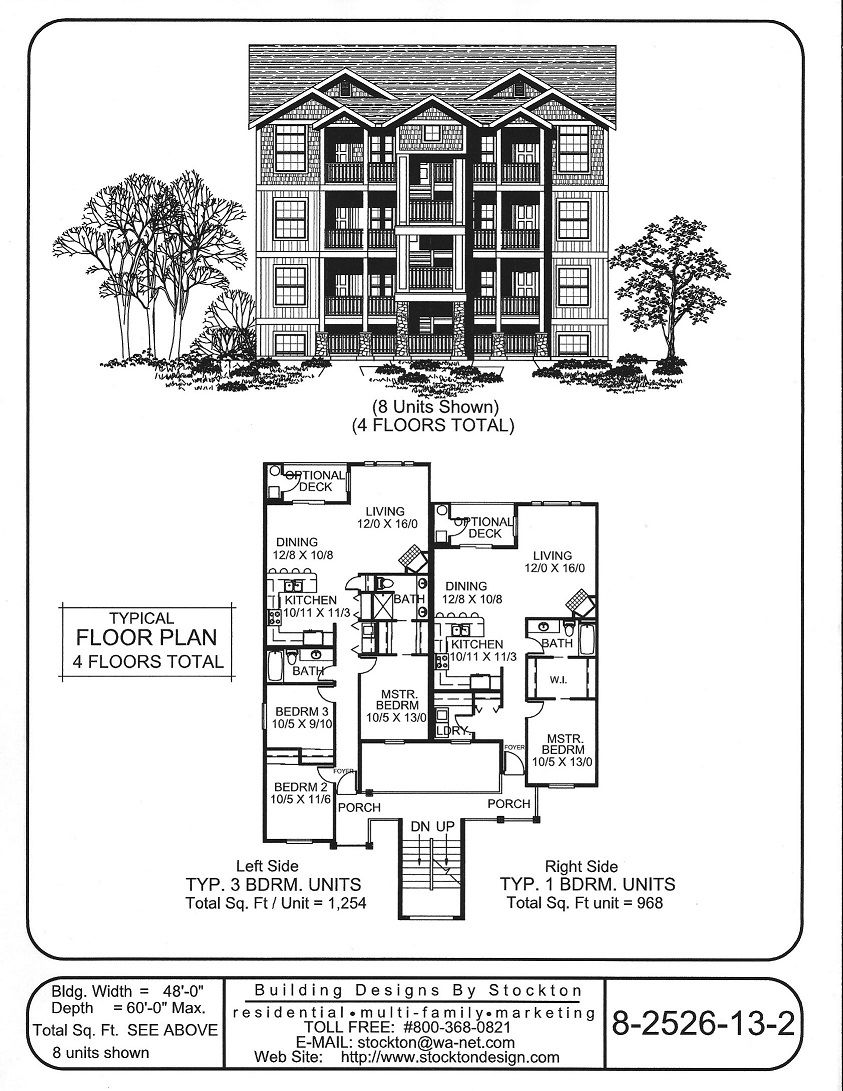 Building Designs By Stockton Plan 8 2526 13 2 Town House Floor Plan Building Design Row House Design