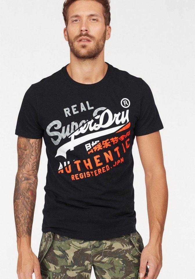 cheaper 7264c 6b39d Superdry T-Shirt »PREMIUM GOODS INFILL TEE« robuste Qualität ...