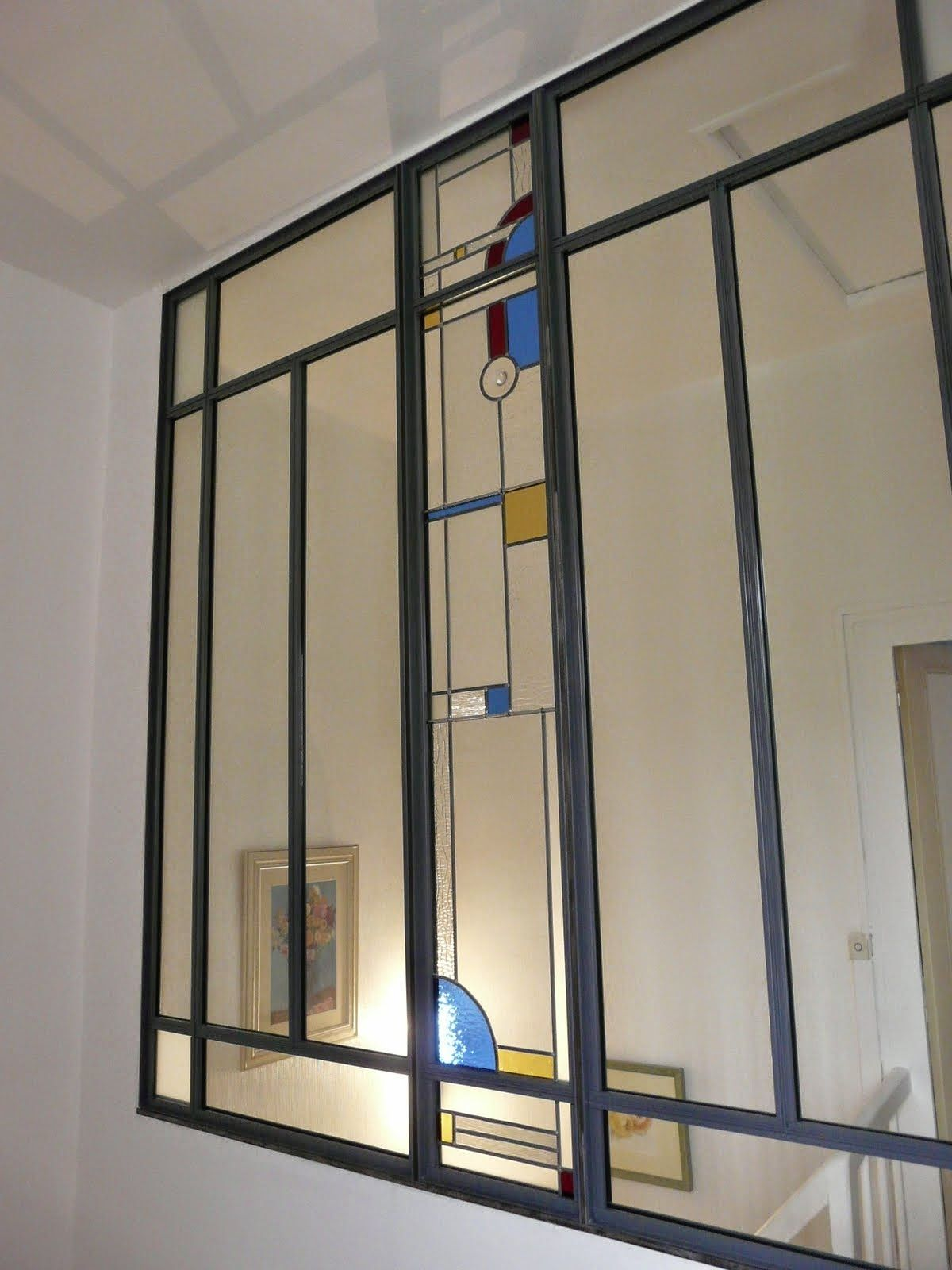 des idées en verre: vitraux art déco dans une verrière | décoration