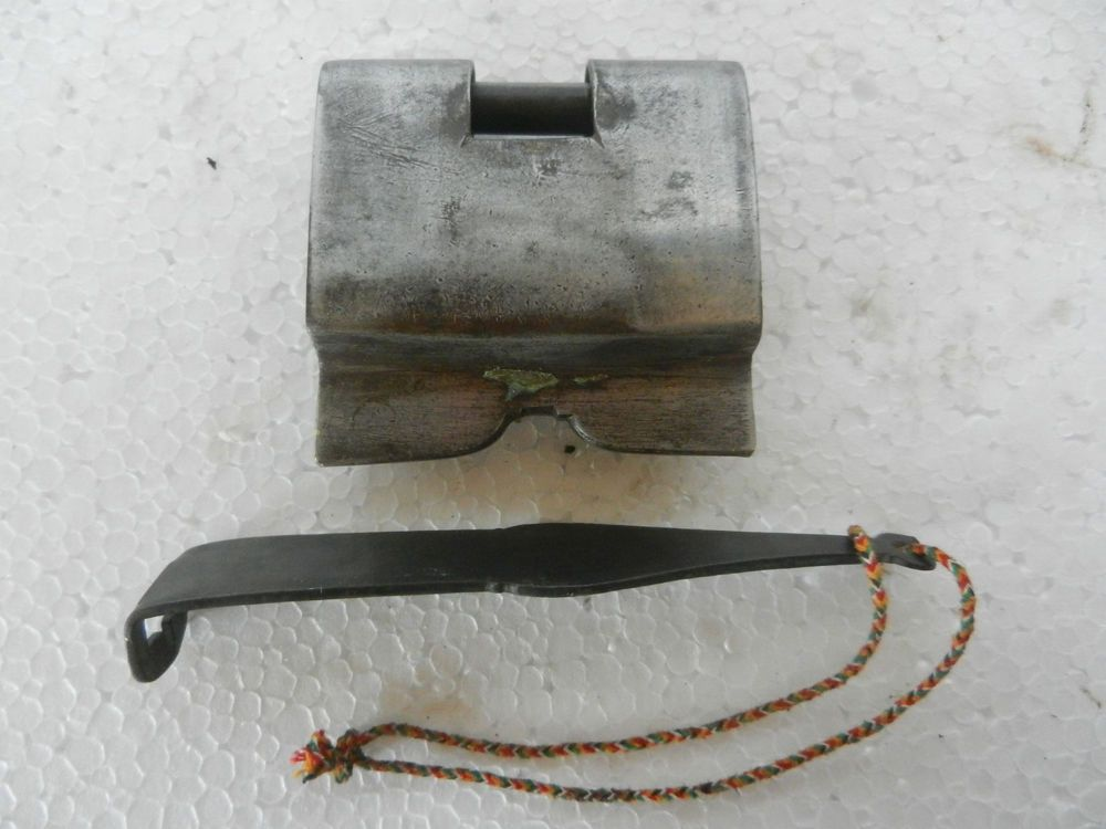Old Iron Strip System Handforged Solid Thick Padlock , Nice Patina