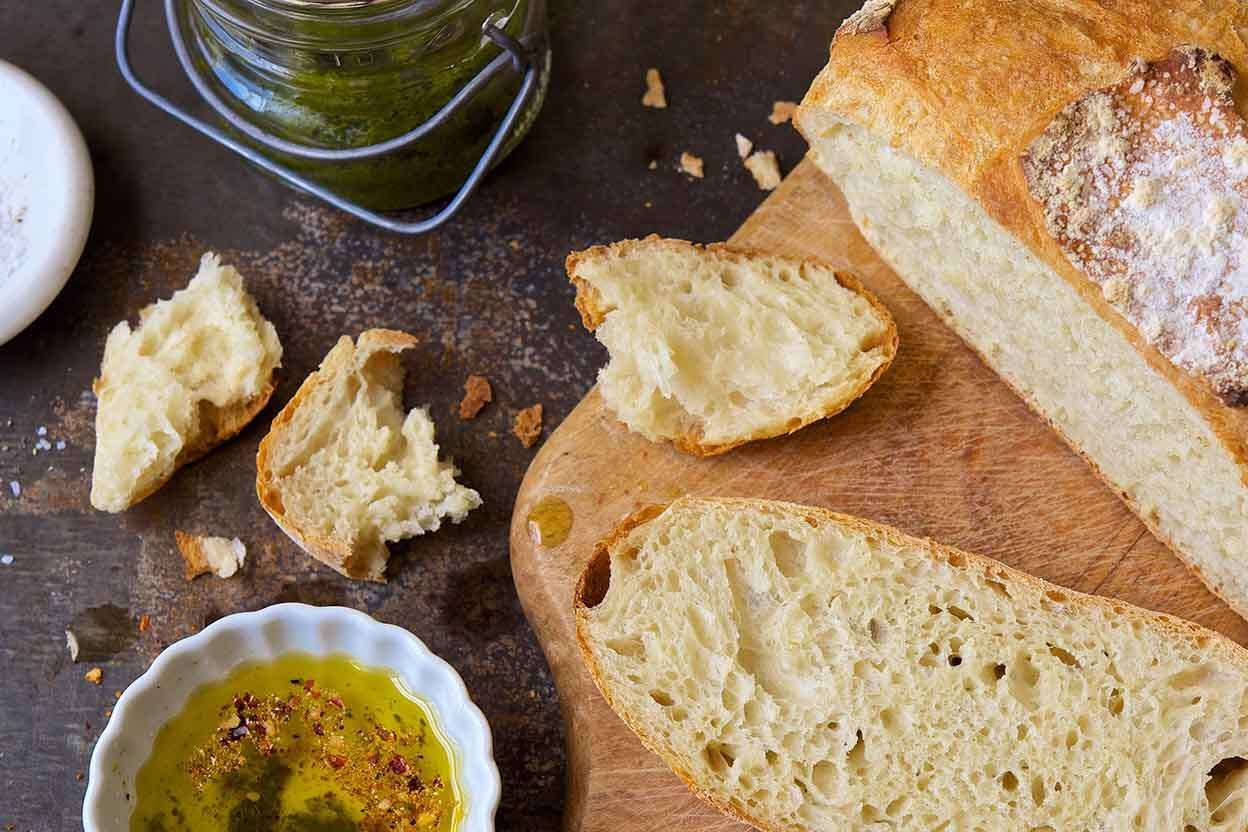 Hearth Bread Recipe In 2020 With Images Crusty White Bread Recipe Recipes White Bread Recipe