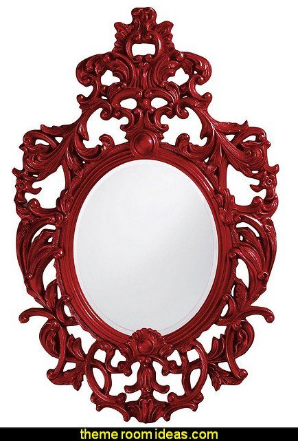 Dorsiere Mirror, Oval, Glossy Red | Mirror, Mirror...On The Wall ...