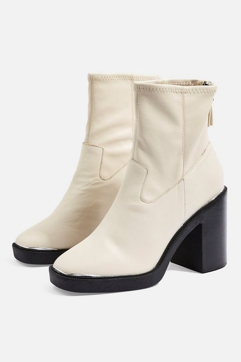 0240a95f1 HIGHLAND Leather Ankle Boots in 2019 | Products | White leather ...