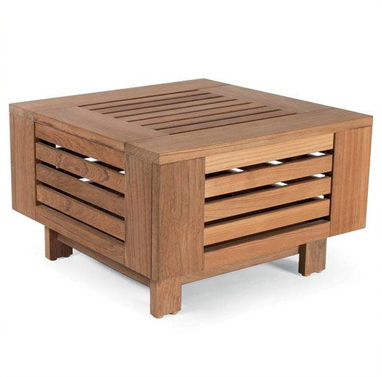 Skanör Lounge Table, S i teak 71x71cm från Skargaarden