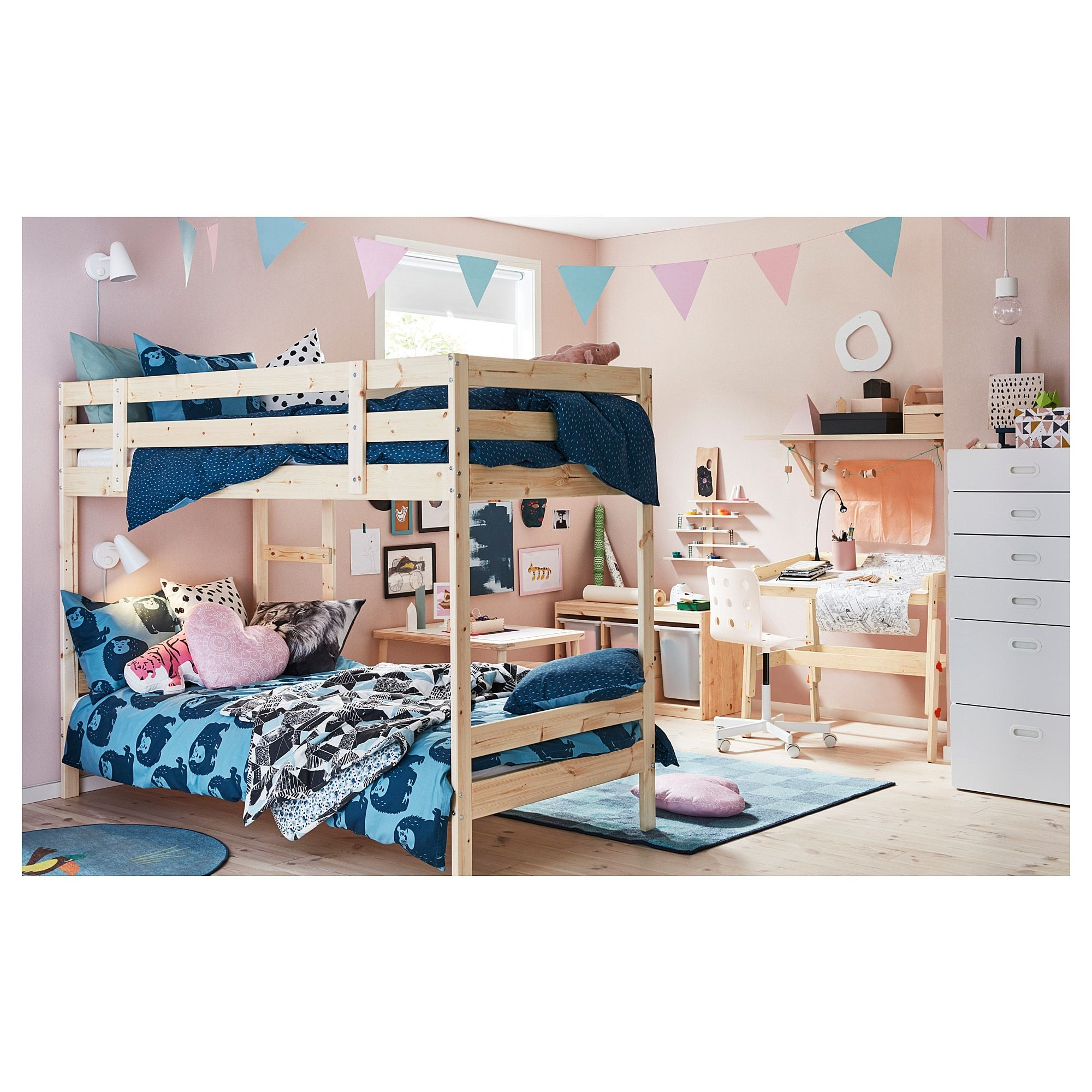 Ikea Bunk Bed Australia Ikea Mydal Bunk Bed Frame Pine In 2019 The Boys Room Bed