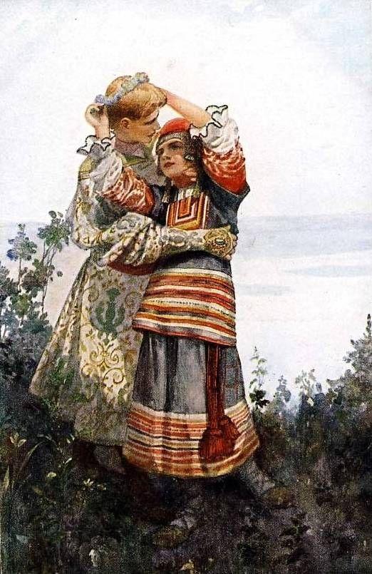 Приездом, русские национальные открытки