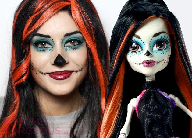 Skelita Calaveras Monster High Makeup Tutorial for Halloween - easy makeup halloween ideas