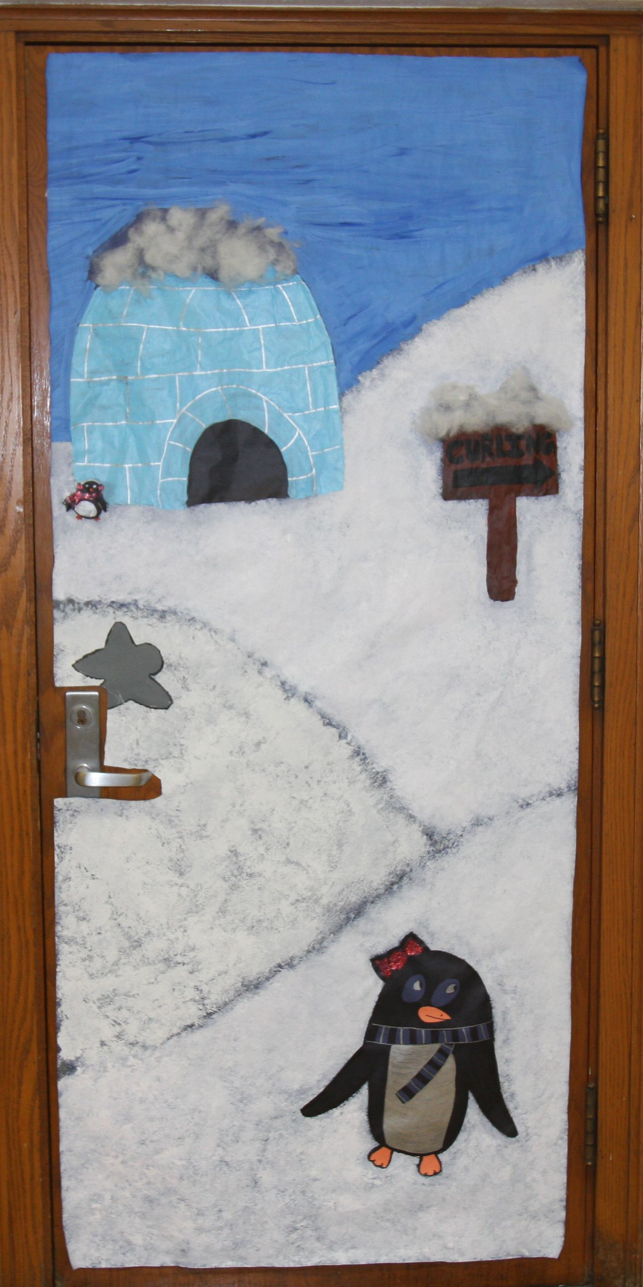 Snow classroom door decorations - 40 Classroom Christmas Decorations Ideas For 2016