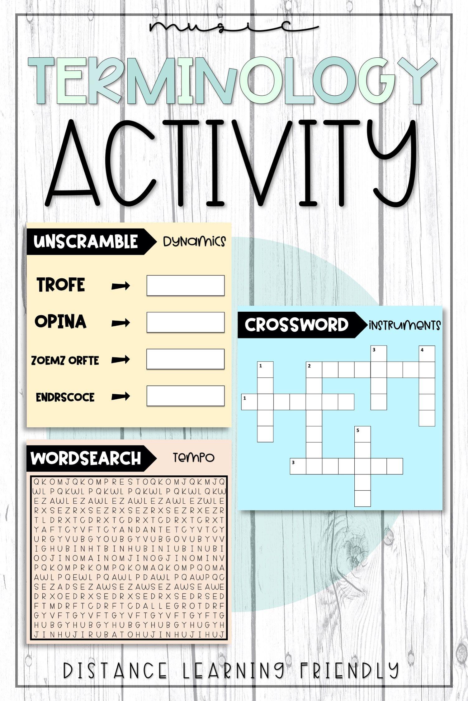 Music Terminology Activity