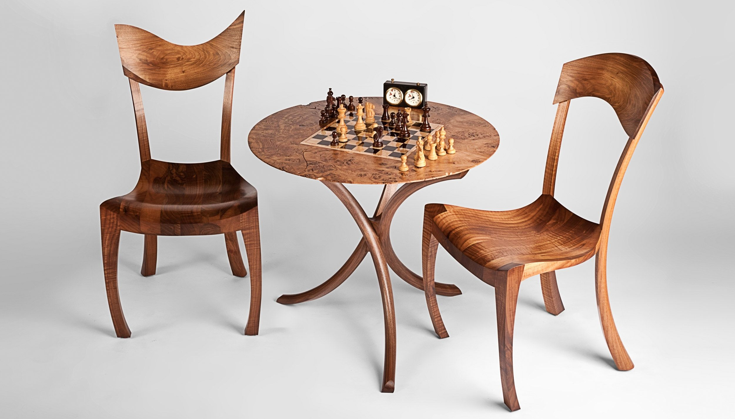 Chess Table Set With Chairs