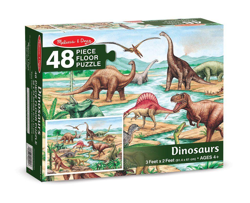 Dinosaurs Floor 48 Pc Floor Puzzle Dinosaur Cardboard Puzzle
