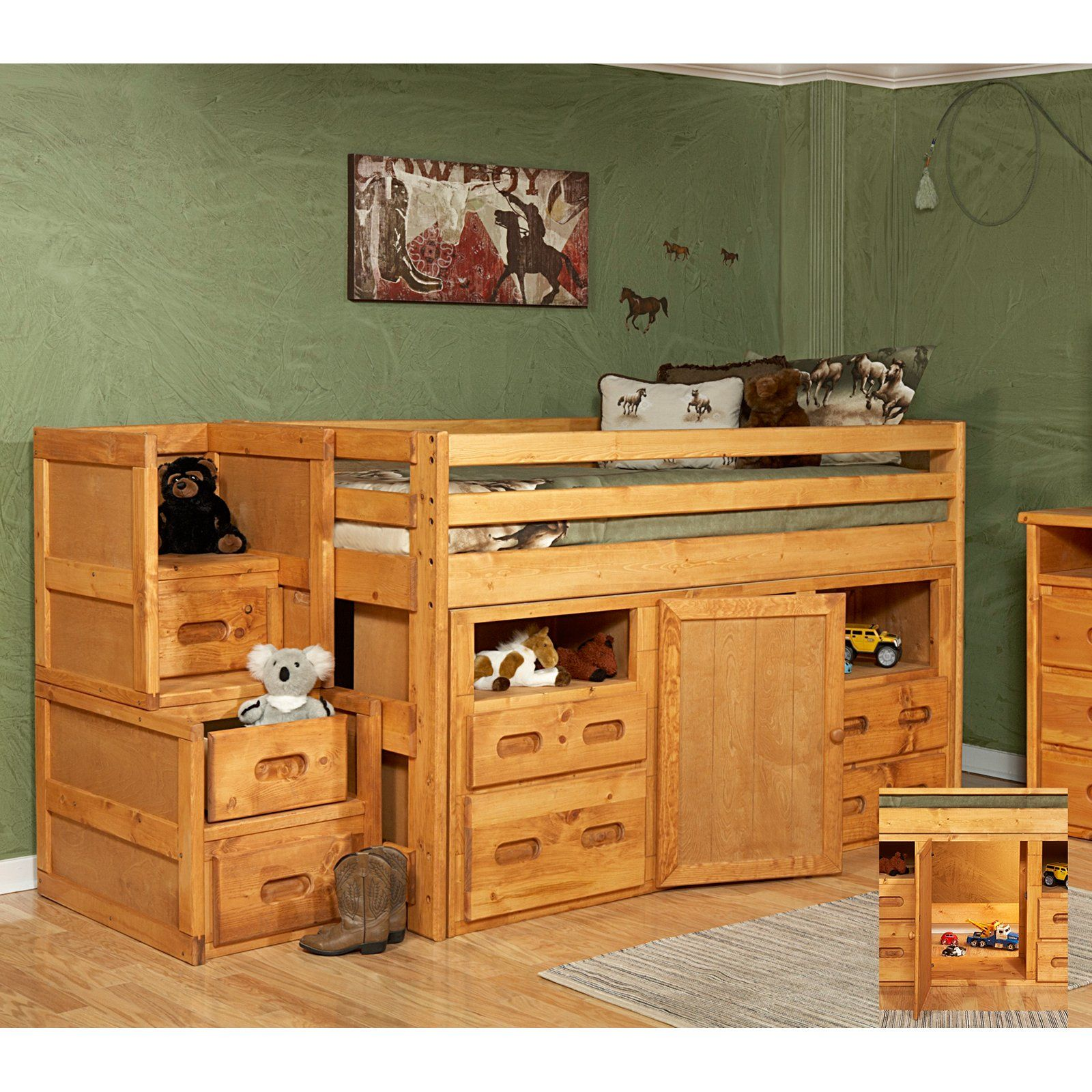 Chelsea Home Twin Junior Loft Bed With Storage And