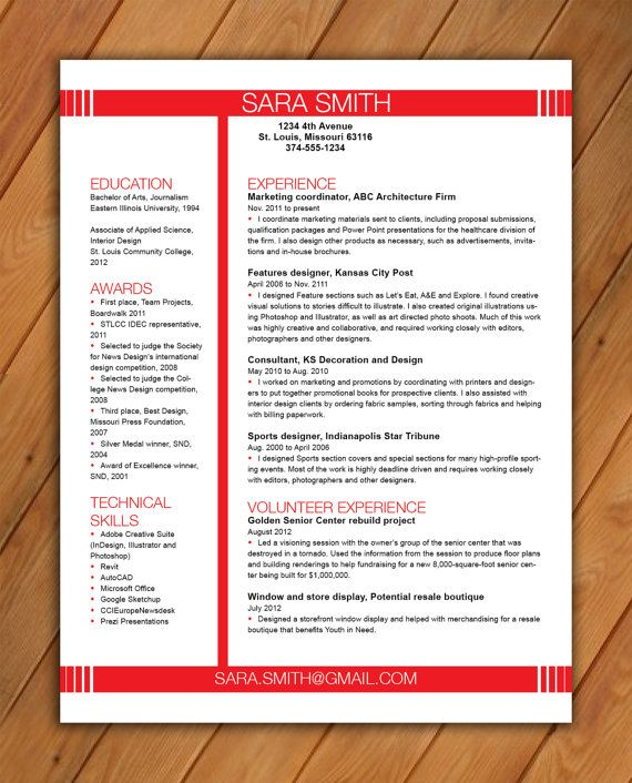 Custom twopage resume template Reverse type name by rbdesign2