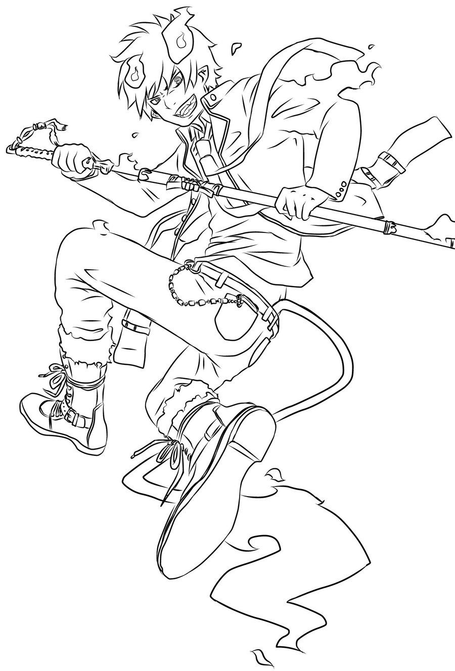 Animax Action Blue Exorcist Fan Art Coloring Books Blue Exorcist Train Coloring Pages