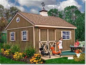 New Castle 12 X 16 Wood Storage Shed Kit Storageshedsoutlet Backyard Storage Sheds Diy Shed Plans Building A Shed